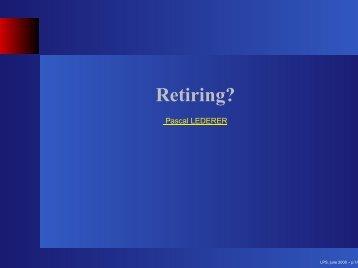 Retiring?