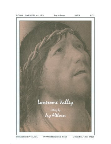 BP1869 LON SOME VALLEY Jay Althouse SATB ... - Pine Lake Music