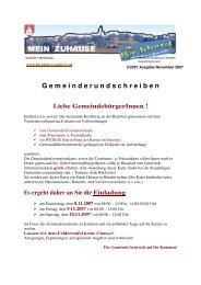G emeinderundschreiben - Gemeinde Kirchberg an der Raab