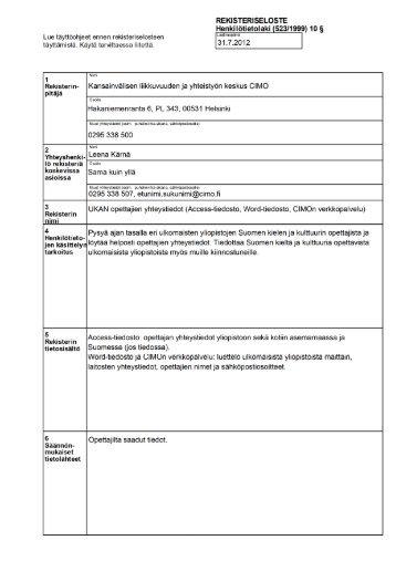 UKAN-lehtorit - CIMO Kansainvälisen liikkuvuuden ja yhteistyön ...