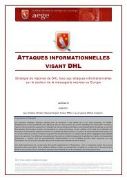 Attaques informationnelles visant DHL - Base de connaissance AEGE