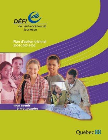 Plan d'action triennal 2004-2005-2006 - Secrétariat à la jeunesse