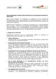 Samarbejdsaftale mellem Kulturministeriet og ... - Ny i Danmark