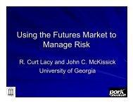 Using the Futures Market to Manage Risk - University of Georgia