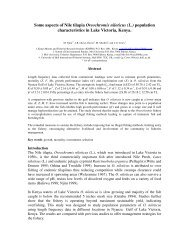Some aspects of nile tilapia population characteristics in Lake ...