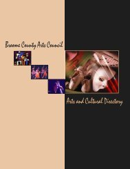 Broome County Arts Council Arts and Cultural Directory