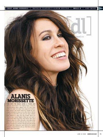 Alanis Morissette Q&A, American Way, June 2008 - Kevin Raub