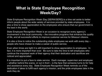 2013 SERD Slide Show - State Employee Recognition