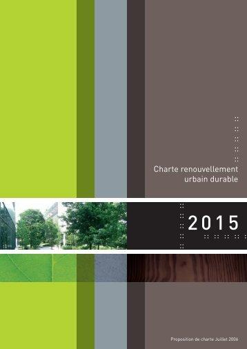 Charte renouvellement urbain durable - Cerdd
