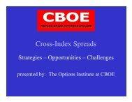 Cross-Index Spreads - CBOE.com