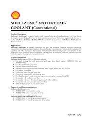 SHELLZONE® ANTIFREEZE/ COOLANT (Conventional)