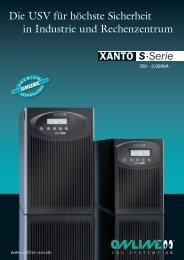Datenblatt XANTO S 700 - Online USV Systeme