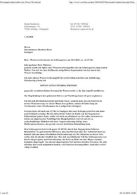 Musterbrief Beschwerde Gesundheitsamt Verstoss Lebensmittelg 9