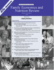 Elderly Nutrition - Center for Nutrition Policy and Promotion - US ...