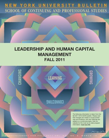 leadership and human capital management - School of Continuing ...