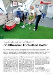 Ein Ultraschall kontrolliert Golfer - evenPAR