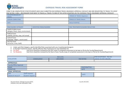 Free 36+ sample risk assessment forms in pdf | ms word.