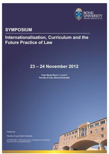Symposium Program - Bond University