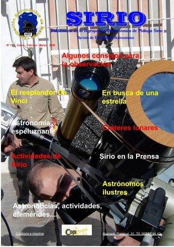 """numero 17DOS.qxp - Agrupación Astronómica de Málaga """"Sirio"""""""