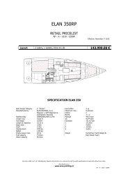ELAN 350RP - WNE Yachting