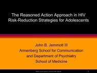 The Reasoned Action Approach in HIV Risk-Reduction Strategies ...