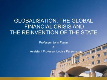 Globalisation, the GFC and the Reinvention of the State