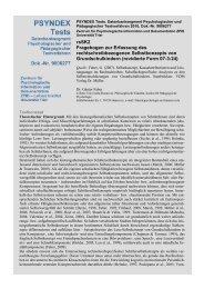 rsSK2 Fragebogen zur Erfassung des ... - ZPID