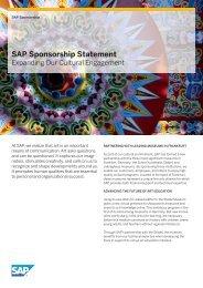 SAP Sponsorship Statement