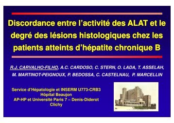 Discordance Discordance entre l'activité l'activité des ALAT et ... - Afef