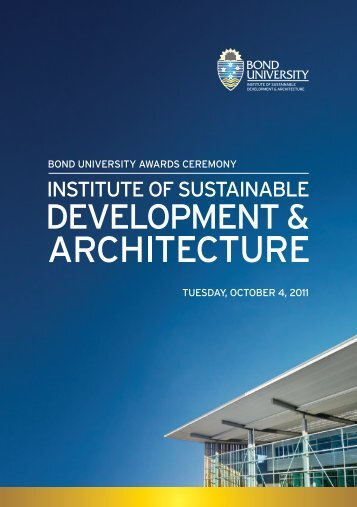 DEVELOPMENT & ARCHITECTURE - Bond University