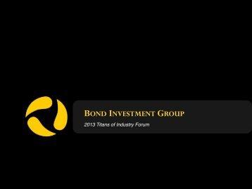BOND INVESTMENT GROUP - Bond University