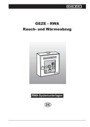GEZE - RWA Rauch- und Wärmeabzug - Herling Baubeschlag GmbH