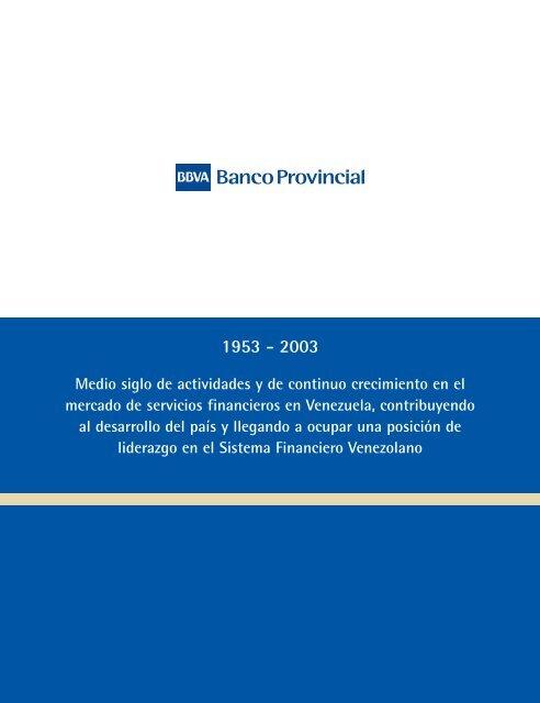 Informe Segundo Semestre 2003 - Banco Provincial