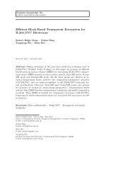 Efficient Block-Based Transparent Encryption for H.264/SVC ...