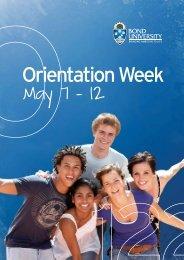 Orientation Program - Bond University