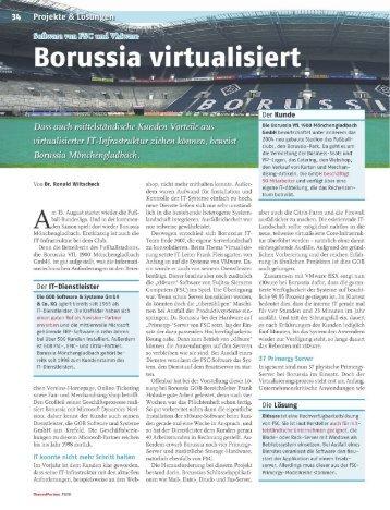 Bericht: Borussia virtualisiert - GOB Software & Systeme
