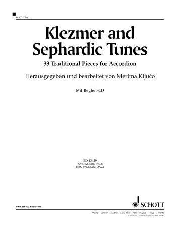 Klezmer and Sephardic Tunes - Vorwort (Deutsche ... - Schott Music