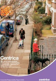 Download the 2003 Corporate Responsibility report PDF - Centrica
