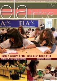 ELA Infos n°67