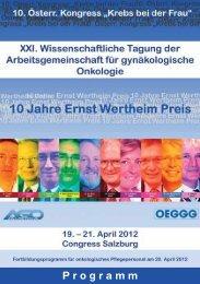Programm - Österreichische Gesellschaft für Gynäkologie und ...