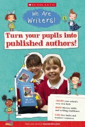 CREATE your school's very own book BOOST literacy ... - Scholastic