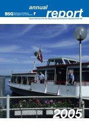 Geschäftsbericht 2005 - BSG - Bielersee Schifffahrt