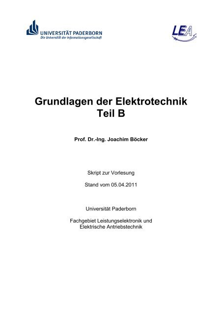 u - Fachgebiet Leistungselektronik und Elektrische Antriebstechnik ...