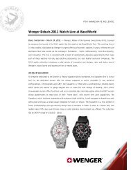 Wenger Debuts 2011 Watch Line at BaselWorld
