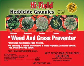 Label 21742 Herbicide Granules Approved 02-20-12 - Fertilome