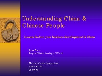 Understanding China & Chinese People - KNCV