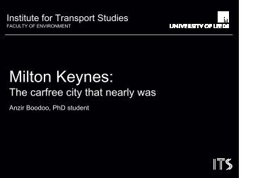 Milton Keynes: - World Carfree Network