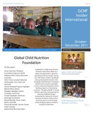 Oct – Dec 2011 Issue - Global Child Nutrition Foundation