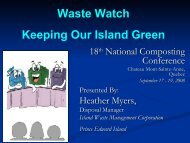 Waste Watch Keeping Our Island Green - Compost Council of Canada