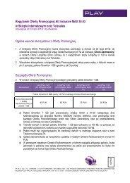 Regulamin Oferty Promocyjnej All Inclusive MAX 30.03 w ... - Play